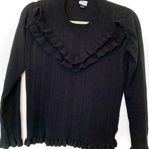MEI Ruffle-Front Sweater
